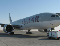 Substantial damage to Qatar Airways plane in collision