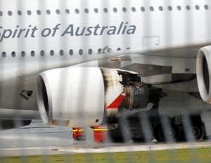 IN PICTURES: Engine explosion on Qantas A380