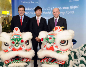 IN PICS: Cathay Pacific marks Abu Dhabi milestone