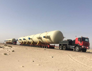 Largest cargo ever transported across 600km in Iraq