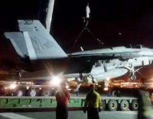 BIG PIC: Turk Heavy Transport removes crashed US jet in Bahrain