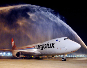 PHOTOS: Dubai Airport welcomes Cargolux's first 747-8F