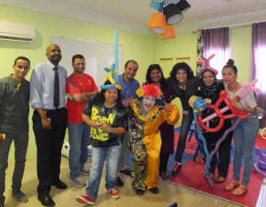 DHL in Qatar puts on activities for disabled children