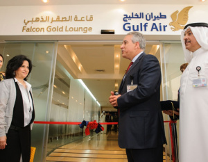 PHOTOS: Gulf Air Unveils Falcon Gold Lounge Upgrade