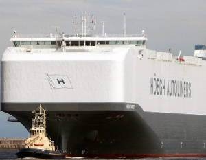 BIG PIC: World's largest car carrier calls in Jordan