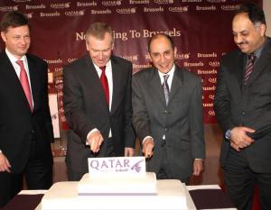 IN PICS: Qatar Airways inaugural Brussels flight
