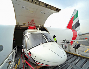 PHOTOS: Emirates transports helicopters to Brazil