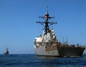 WATCH: US Navy ship collides with Gulf tanker