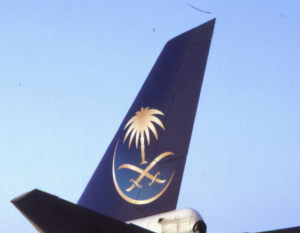 Saudia A320 catches fire on runway