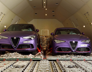 PICS: Emirates SkyCargo flies Alfa Romeo to UK for Gargash