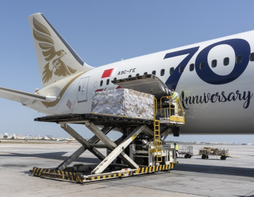 Bahrain's Gulf Air airlifts food consignment from India