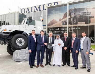 Daimler delivers 27 Mercedes-Benz Zetros trucks in MENA