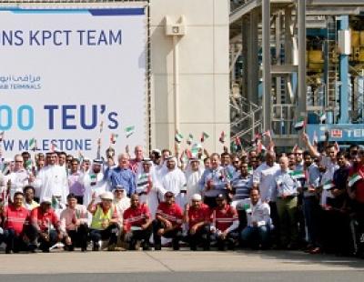 Khalifa Port celebrates 5-million container milestone