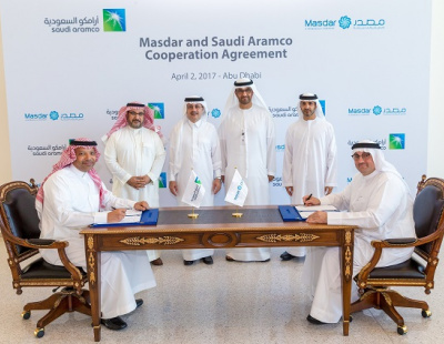 ADNOC/Masdar sign sustainability MoUs with Saudi Aramco