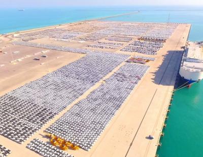 BIG PICTURE: A sea of cars at Port Khalifa