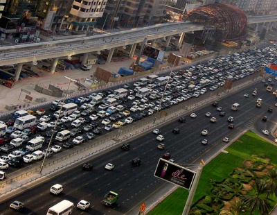 Which Dubai transport system dominates online searches?