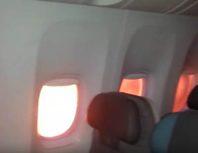 VIDEO: Inside the evacuation of burning passenger jet