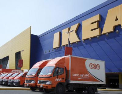 TNT SAB Express Saudi Arabia flat packs IKEA goods