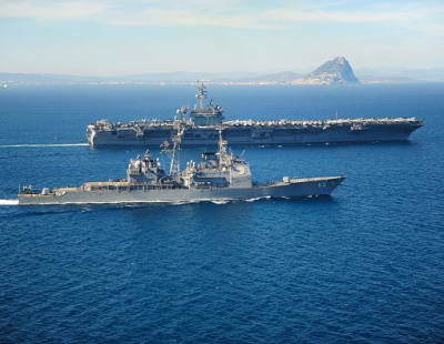 US aircraft carrier in Jebel Ali ahead of Gulf pullout