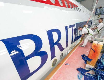 PHOTOS: How the first British Airways A380 was painted