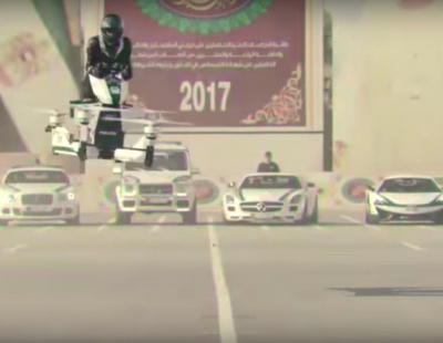 Video: Dubai Police test rideable hoverbike