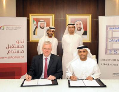 Etihad Rail and Emirates Steel galvanise deal