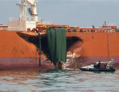Egypt-bound bulker collides with Russian oil tanker