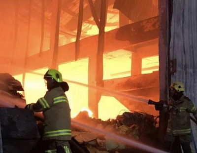 Ajman industrial area evacuated as plastics warehouse burns down