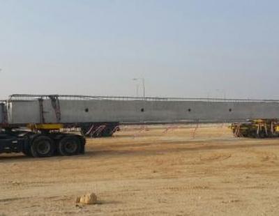 BIG PIC: Turk Transport moves massive concrete beams in Bahrain