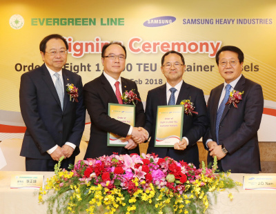 Evergreen orders eight new 11,000 TEU container ships
