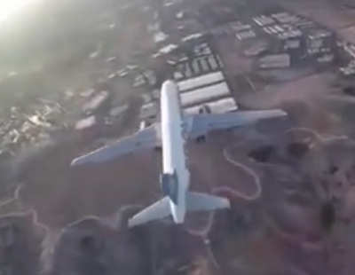 VIDEO: Drone comes dangerously close to landing airliner