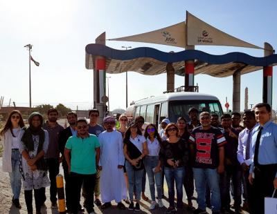 UOWD logistics students tour Jebel Ali Port in Dubai