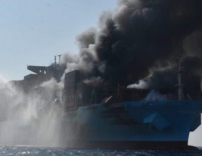 Fire ravaged Maersk Honam under tow for Jebel Ali Port