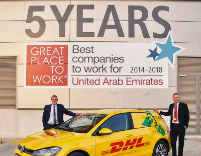 DHL Express introduces electric cars in Dubai