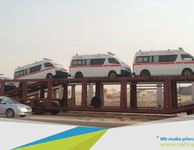 Big Pic: Al Nahrain delivers ambulances to Iraqi Ministry of Health