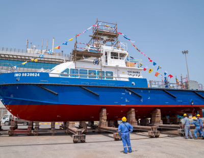 Grandweld Shipyards launches first vessel for Kuwait Oil Company