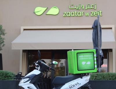 Zaatar w Zeit restaurants start using electric motorbikes for deliveries