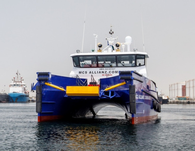 Damen hands over four FCS 2610 vessels to Allianz during ADIPEC
