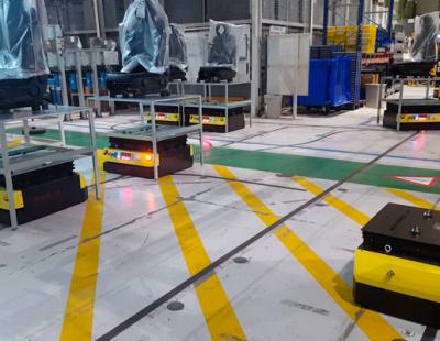 Kivnon AGVs take automation to the next level with WMS in Faurecia