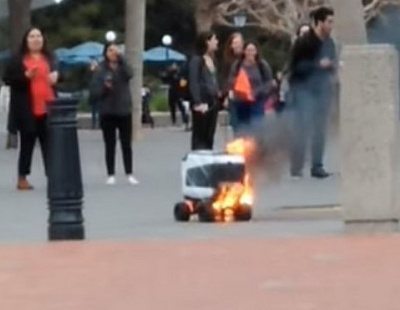 Student campus mourns loss of 'kiwibot' in mystery food delivery fire
