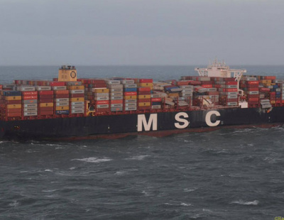 In Pics: MSC mega ship loses hundreds of containers in strong winds