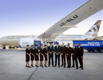 Etihad Airways flies world's first commercial flight using local sustainable fuel