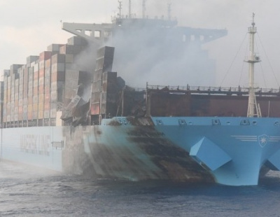 Fire damaged Maersk ULCC cut up for partial scrapping in Dubai