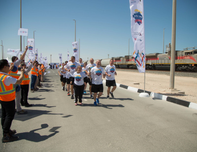 Special Olympics Flame arrives at Etihad Rail station in Abu Dhabi