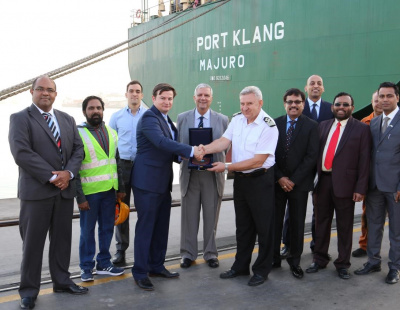 Sunmarine Shipping Services makes maiden call at Sharjah Container Terminal
