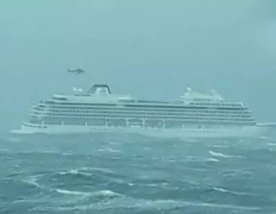 VIDEOS: Terror at sea as passenger ship evacuated amid severe storm