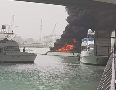 VIDEO: Yacht goes up in flames in Dubai Marina