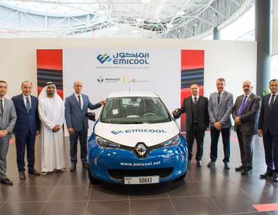 Emicool deploys Renault ZOE electric vehicle fleet and green public parking