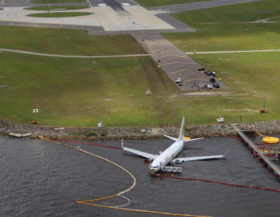 Another Boeing 737 crash lands in river after attempting to set down in military base