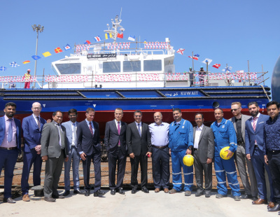 UAE's Grandweld Shipyards launches sixth pilot boat for KOC